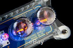 IN-18 Arduino Shield Nixie Tubes Clock in Acrylic Case TUBES OPTIONAL