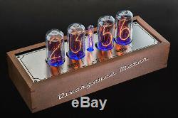 IN-18 Arduino Shield Nixie Tubes Clock in Wooden Case 4 TUBES GPS, Temp sensor