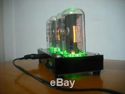 IN-18 Exclusive Four Digit NIXIE Clock+Black enclosure RGB Backlig WITH TUBE