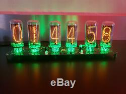 IN-18 Nixie Clock Assembled 6 NOS Tubes Largest Nixie Tubes Available