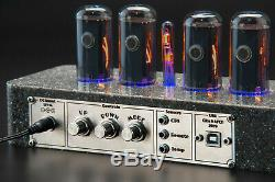 IN-18 Nixie Tubes Clock Synthetic Granite Case GPS Sync. FREE Delivery 3-5 Days
