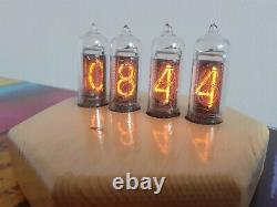 IN14 Nixie tubes clock in wooden case by Monjibox Nixie