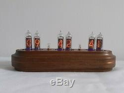 IN14 nixie clock Star copper insertions Monjibox
