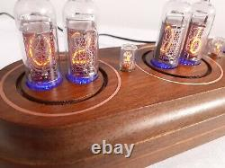 IN14 nixie clock Star copper insertions Monjibox Nixie