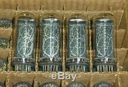 IN18 IN-18 The biggest nixie tubes for clock. A set of 4 pieces. NOS 100% tested
