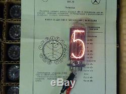 IN18 IN-18 The biggest nixie tubes for clock. A set of 6 pieces. NOS 100% tested