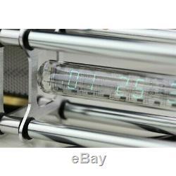 IV-18 VFD Nixie Tube Clock Assembled with Aluminum Alloy Shell Power Adapter sz8