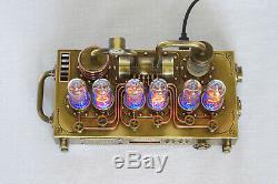 Illuminator Nixie Tube Clock Handmade IN-14 Steampunk Style