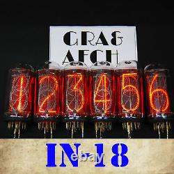 In-18 Nixie Tubes For Nixie Clock Matching Set New Tested Same Date 8 Pcs