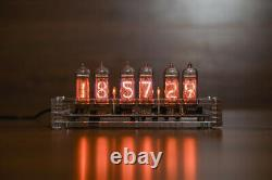 Jahrgang Nixie Röhren Tischuhr Retro Uhr 6x IN-14 Acryl-Gehäuse Gebaut Geprüft