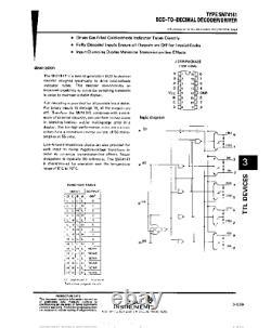 K155ID1 1551 a-g 74141 Nixie clock tube driver high voltage chip NEW 100pcs