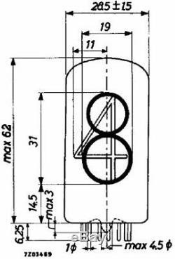 LOT OF 9 TESLA ZM 1040 Nixie Tube Indicator Vintage Clock USED