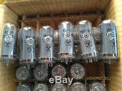 MATCHED SET 6x IN18 IN-18 -18 NIXIE TUBES NOS NEW Divergence Meter Clock