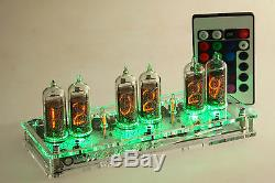 Maja RGB Nixie Clock IN-14 russian Tubes Tube Clock with remote control led