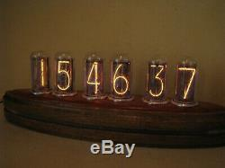 Monjibox Admiral Nixie Clock with large NOS IN18 tubes