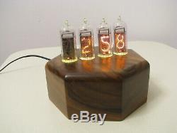 Monjibox Heptagon IN14 tubes nixie clock thermometer hygrometer