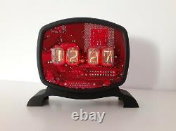 Monjibox Nixie Clock Uhr with IN12 tubes for IT man
