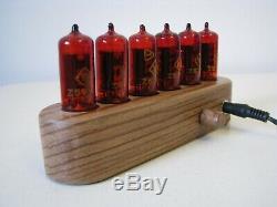 Monjibox Nixie Clock Z570M tubes wooden case