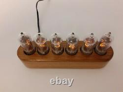 Monjibox Nixie Jewel Series Clock Z570M tubes wooden case