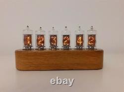 Monjibox Nixie clock uhr Jewel Series Z570M tubes Oak wooden case