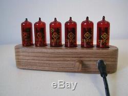 Monjibox Nixie clock uhr Jewel Series Z570M tubes Zebrano wooden case
