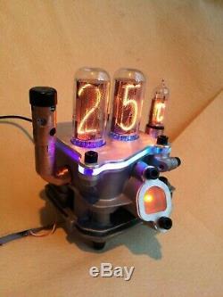 Motor UNIKAT IN18 tubes Nixie Uhr clock in motor by Monjibox