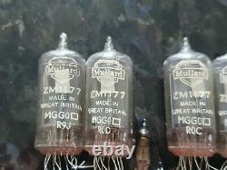 Mullard ZM1177 RARE NIXIE TUBES SET FOR CLOCK TESTED LOT 6PCS+4pcs IN-3 FREE