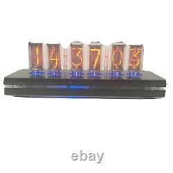 NIXIE CLOCK LC631 BLACK PIANO, RARE NIXIE TUBE LC631 in1973 YEAR one series