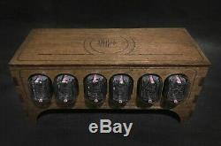 NIXIE TUBE Clock Vintage Pulsar IN-12 6-tubes assembled adapter