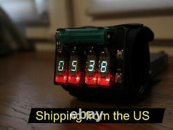 NIXIE TUBE VFD ERA WRIST WATCH CLOCK BASED ON IV-3 Date Temparature Display