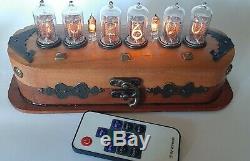 NIXIE Tube Clock Vintage Z573 Z570 RGB Desk clock Unique Remote Control RETRO