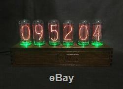 NIXIE Tube Clock vintage Pulsar IN-18 RGB 6-tubes