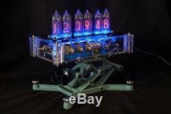 NIXIE Tubes Steampunk Desktop Alarm Clock Handmade Vintage Retro Fallout Gift