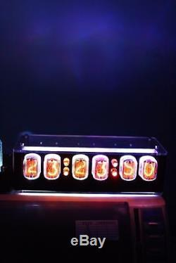 NIXT CLOCK IN12 Nixie Clock With GPS Temp Remote Alarm Power 100% Assembled
