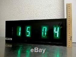 NOS Vintage 80's USSR Nixie Tube Lamps Wall Clock. Box and Manual. Super Rare