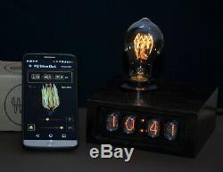 Night Light Vintage Style Nixie Clock Edison Lamp, Android connected Retro