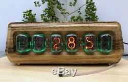 Nixie Clock IN-12 6-Tube Full Natural wood #000202
