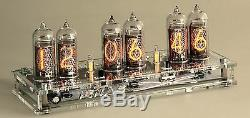Nixie Clock IN-14 Digit Tubes KIT with case and power adapter 110-220V-12V