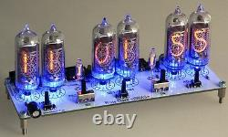 Nixie Clock IN-14 Digit Tubes Tube Clock KIT with power adapter 110-220V-12V