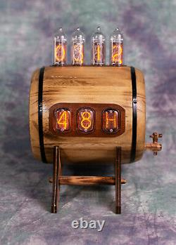 Nixie Clock IN14 IN12 tubes Thermometer Hygrometer Bacchus by Monjibox