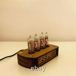 Nixie Clock Kit IN-14 (With tubes) and Wooden Enclosure