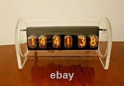 Nixie Clock Nude IN12 tubes plexiglass case