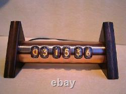 Nixie Clock Tobleron Monjibox IN17 vintage tubes copper case steampunk