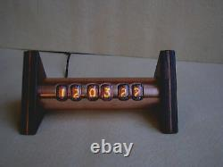 Nixie Clock Tobleron Monjibox IN17 vintage tubes copper case steampunk