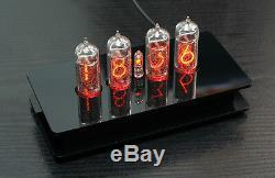 Nixie Clock / Uhr mit vier IN-14 Tubes / Röhren Alarm und Glockenspiel