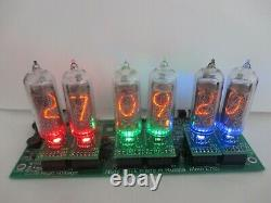 Nixie Clock model MARK 2. Nixie clock With tube in14 with weather station