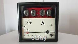 Nixie Electronic Clock (Vintage Industrial Ampermeter Case)