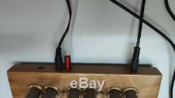 Nixie Röhren Uhr 4x IN-14 Nussholz GPS-Sync Retro Uhr Röhre Nixie Tube Clock