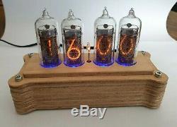 Nixie Röhren Uhr 4x IN-14 Retro Uhr Röhre Tischuhr Nixie Tube Clock