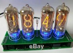 Nixie Röhren Uhr 4x IN8-2, 8-2 Retro Uhr Röhre Tischuhr Nixie Tube Clock